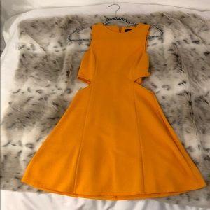 TOPSHOP ORANGE SUMMER DRESS